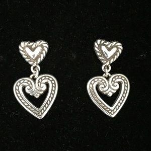 Brighton Double Heart ❤️ Earrings